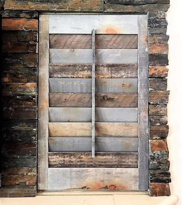 Dallas reclaimed wood shutter