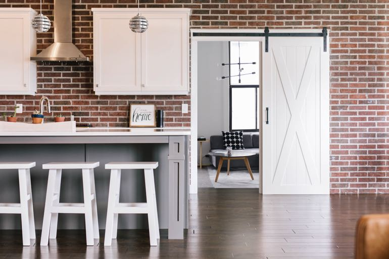Dallas modern kitchen barn door