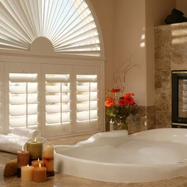 Dallas bathroom privacy shutters.