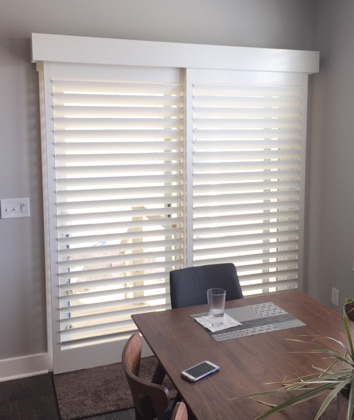 Dallas chic sliding door shutters