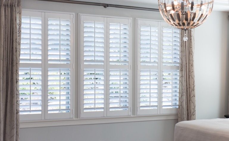 Dallas plantation shutters guest room