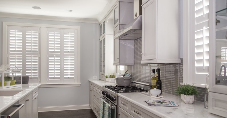 Dallas kitchen white shutters