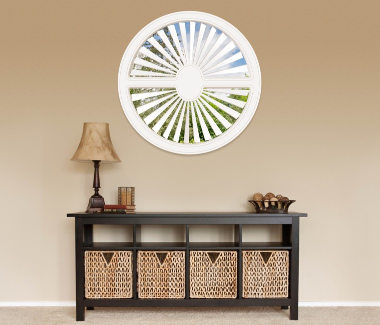 Circular Shutters in Dallas, TX