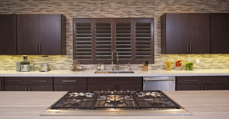 Dallas wood shutter kitchen