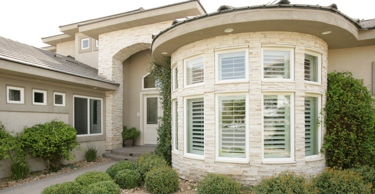 Exterior shutters Dallas home