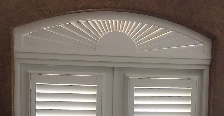 Perfect Eyebrow Window Treatments Sunburst Shutters Dallas