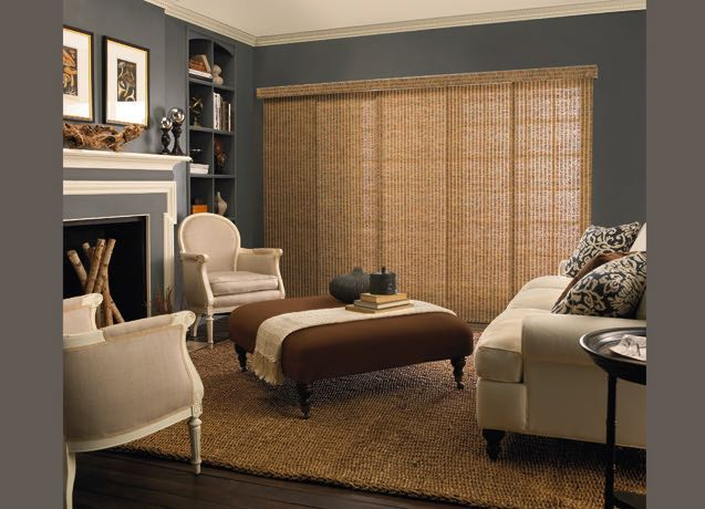 Dallas living room wide vertical blinds