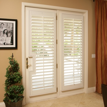 Patio French Door Shutters Dallas