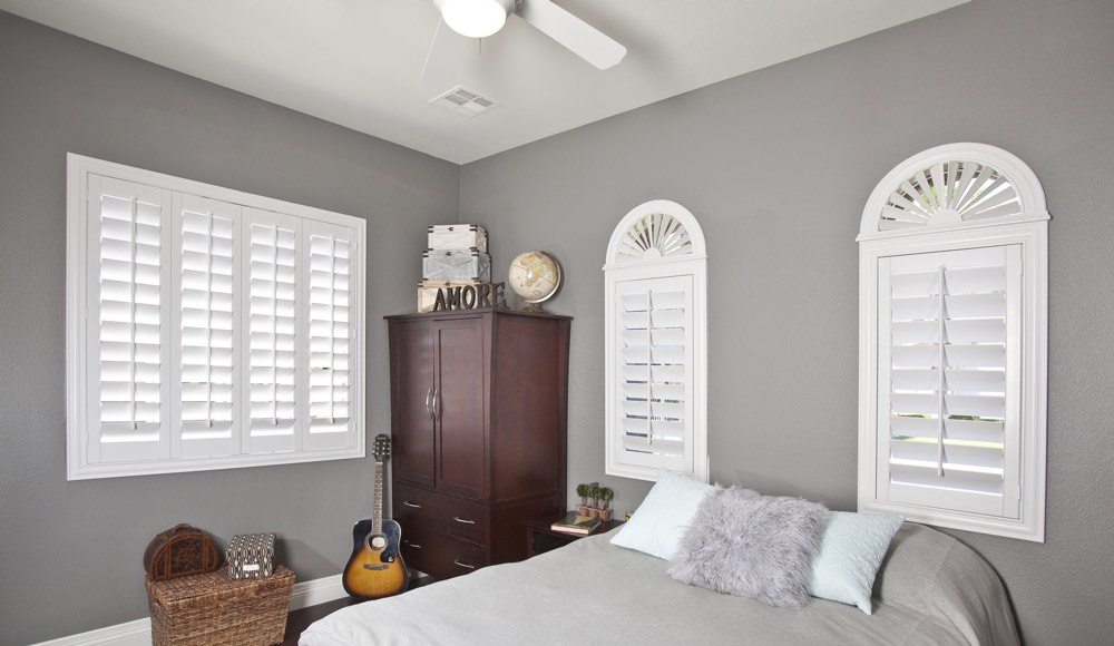 Polywood Shutters In A Dallas Bedroom