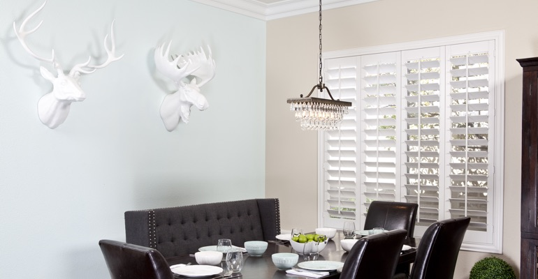 Dallas dining room shutters