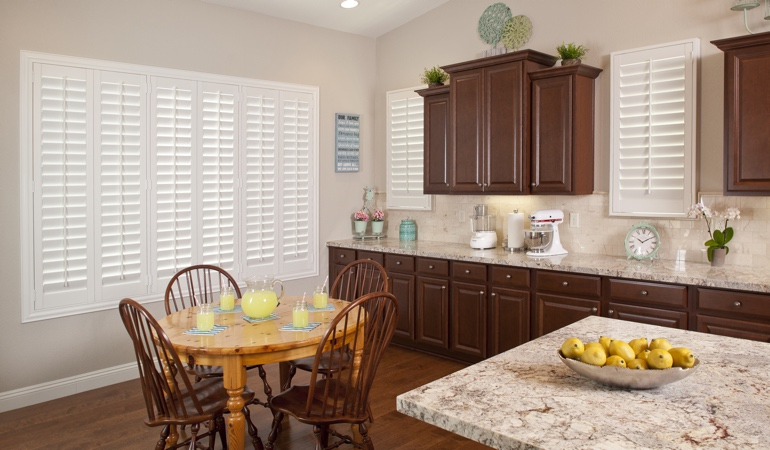 Polywood Shutters in Dallas kitchen