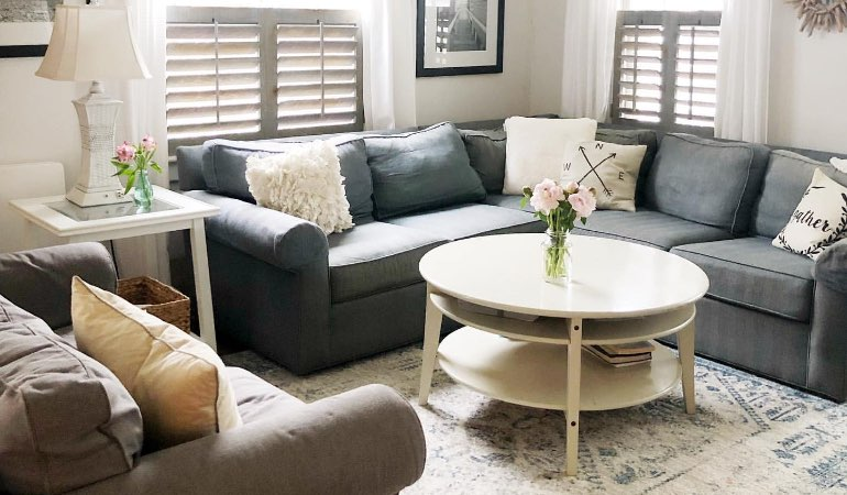 chic reclaimed wood shutters