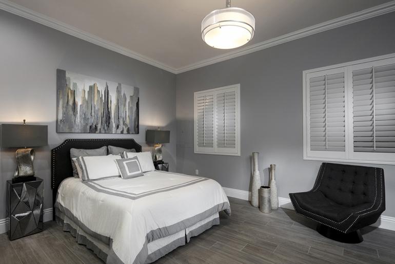 Dallas Blackout Shutters Bedroom