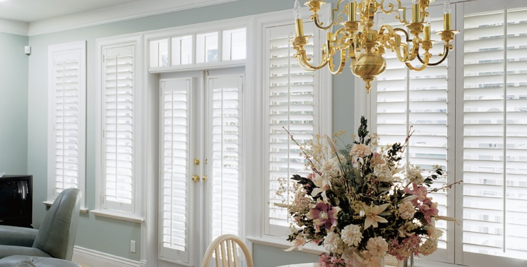 Dallas sunroom polywood shutters