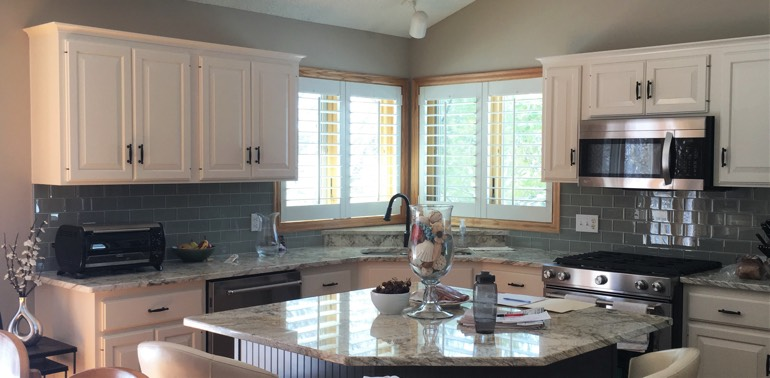 Dallas kitchen with shutters and appliances