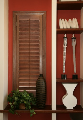 Dallas wood shutter shelving