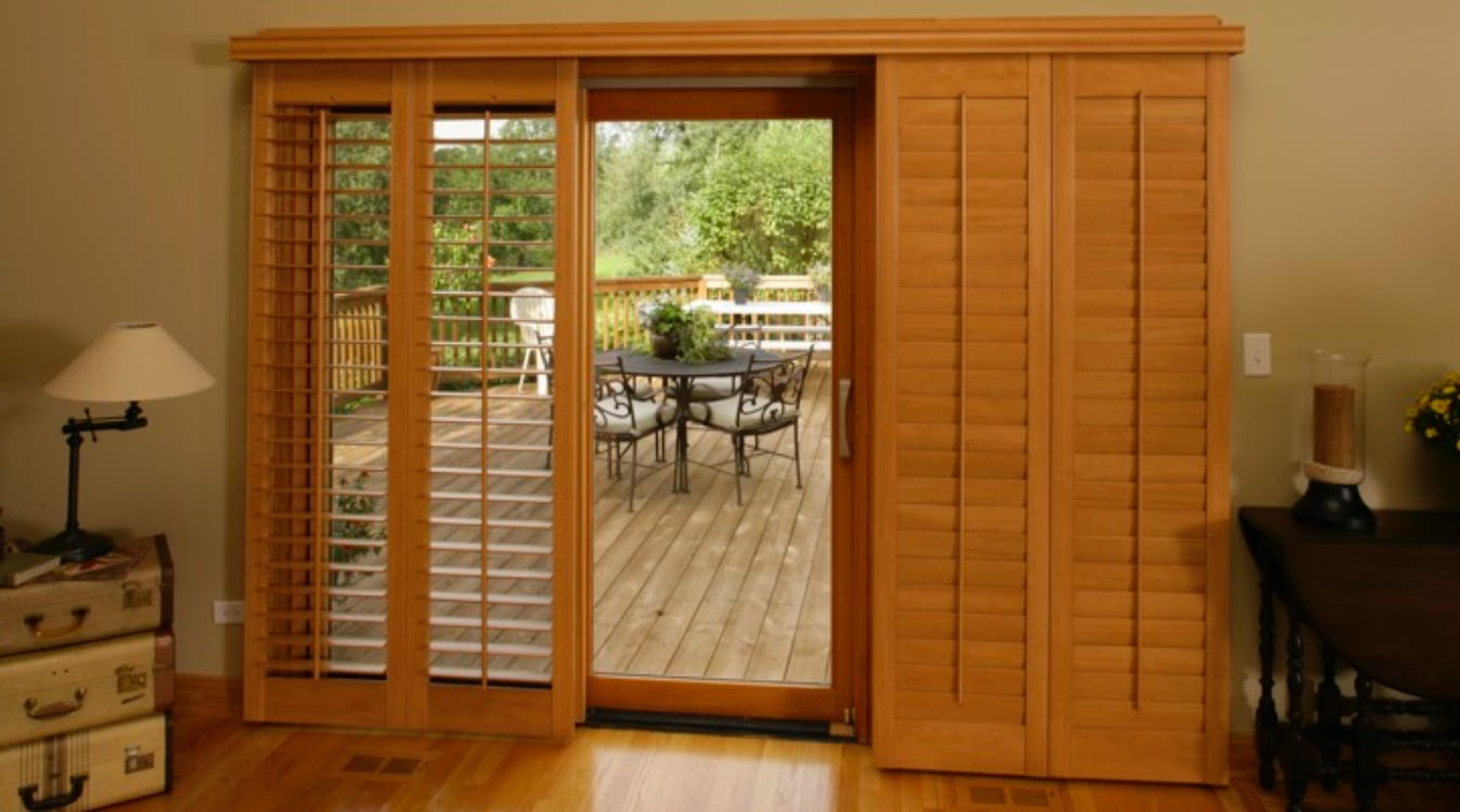 Sliding Glass Door Shutter In Dallas