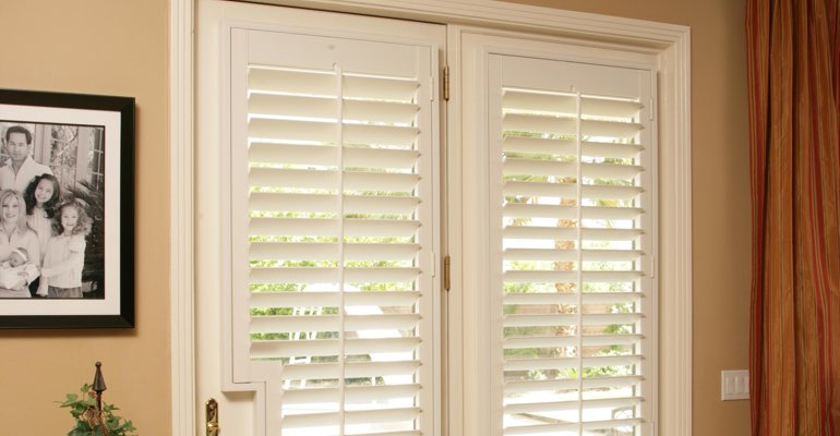 Dallas french door plantation shutters