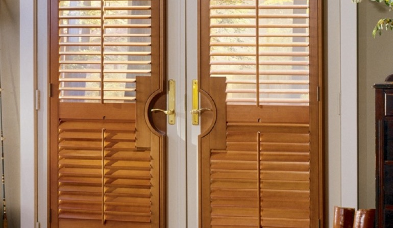 French Door Shutters. Circle Handle Cutout & French Door Shutters In Dallas | Sunburst Shutters Dallas TX Pezcame.Com