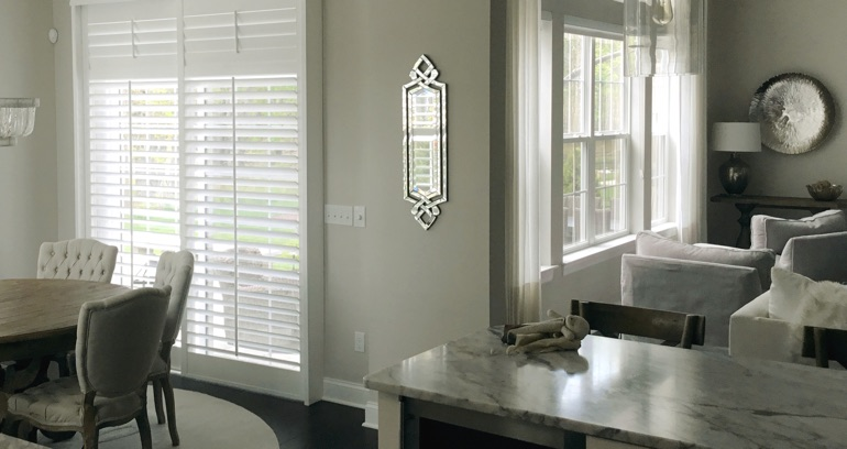 Dallas kitchen patio door shutters