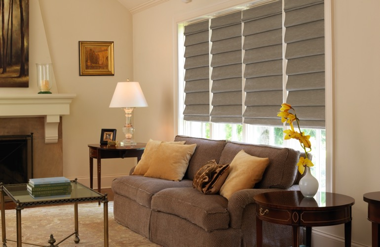 Your Guide To Living Room Window Treatments In Dallas, TX | Sunburst ...