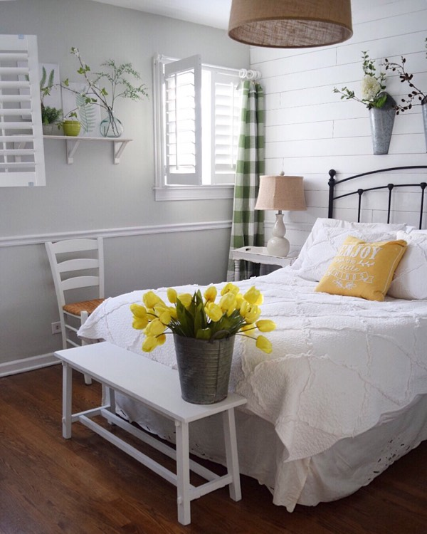 Dallas cottage bedroom shutters