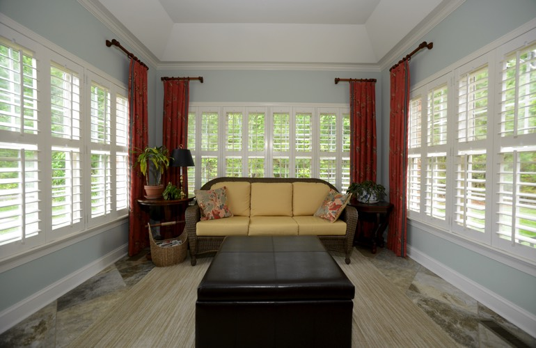 Plantation Shutters In A Dallas Sunroom